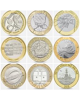 U.K £2 Coins