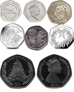 Gibraltar 50p Coins