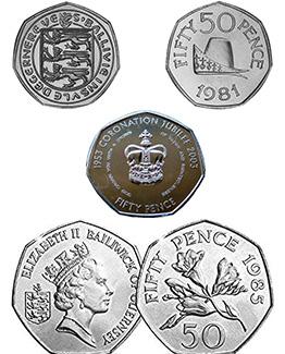 Guernsey 50p Coins