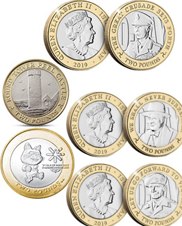 Isle Of Man £2 Coins