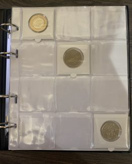 Self Adhesive Coin Holder Albums