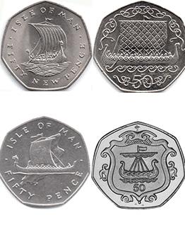 Isle Of Man Viking 50ps
